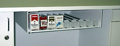 Fast Pack Under Counter Cigarette Dispenser Tray 9 Row