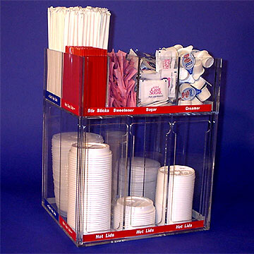 Lid Dispenser with Labels